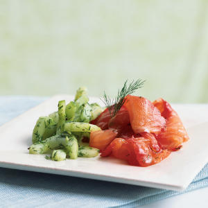 Summer is the best time for wild Pacific Northwest salmon, and Pacific Northwest salmon is the best kind to use in this dish. Combined with fresh beets and dill, and contrasted by the cool, crisp cucumber salad, this salmon is a dish you'll be begged to m