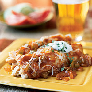 Speedy Chicken and Cheese Enchiladas
