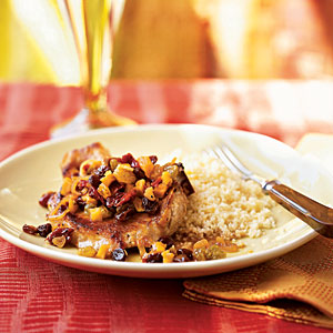 Pan-Seared Pork Chops with Dried Fruit
