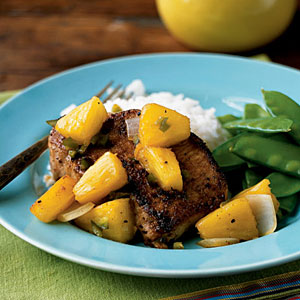 Skillet Pork and Warm Pineapple Salsa