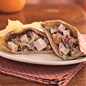 Dried Cherry-Toasted Almond Turkey Salad Sandwiches