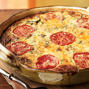 Garden Vegetable Crustless Quiche Vegetarian Egg Recipe