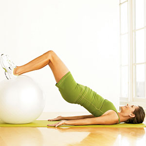 Stability Ball Curl