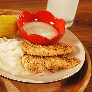 Oatmeal-Crusted Chicken Tenders Recipe