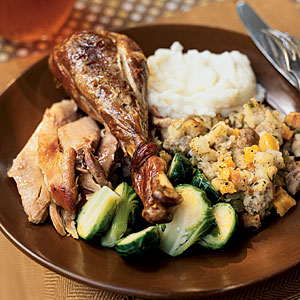 Turkey with Sausage, Apricot, and Sage Stuffing Recipes