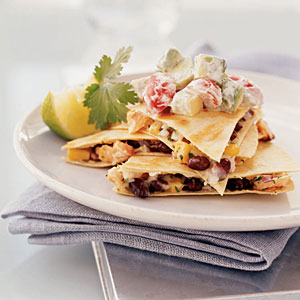 Hot Smoked Salmon Quesadillas