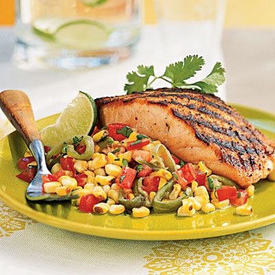 Grilled Salmon with Roasted Corn Relish - Grilled Salmon Recipes ...