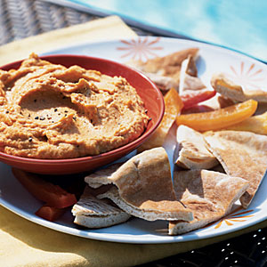 Red Pepper Hummus Vegetarian Appetizer