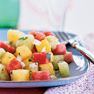 Picante Three-Melon Salad