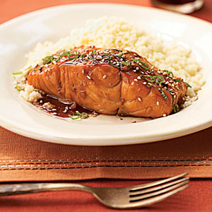 Bourbon-Glazed Salmon