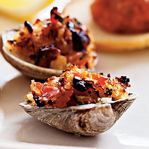 Under 100 Calorie Appetizer: Clams Casino with Pancetta