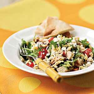 Chicken Orzo Salad with Goat Cheese