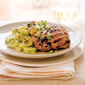 Korean Chicken with Minted Cucumbers Recipes