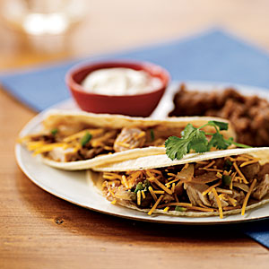 Chicken and Mushroom Tacos