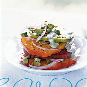 Quick and Healthy Heirloom Tomato and Avocado Stack Recipe