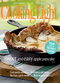 August 2008 Magazine Cover from Cooking Light