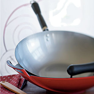 A red-sided wok