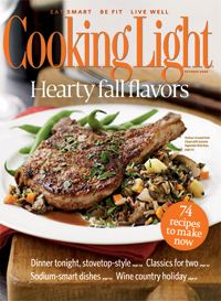 October 2008 Magazine Cover from Cooking Light