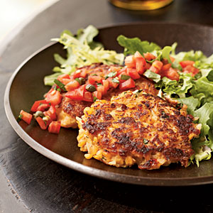 Red Lentil Cakes with Simple Tomato Salsa