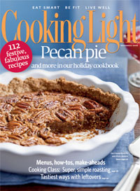 November 2008 Magazine Cover from Cooking Light