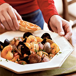 Classic Bouillabaisse with Rouille-Topped Croutons Recipes