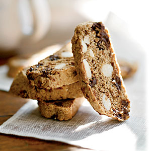 Whole-Wheat Flour Deep Dark Chocolate Biscotti