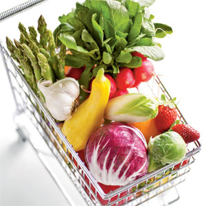 Produce in Shopping Cart