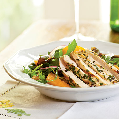 Dinner Salads With Poultry And Meats
