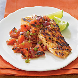 Grilled Salmon with Smoky Tomato Salsa Recipe