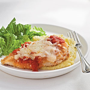 Healthy Dinner Recipe: Oven-Fried Chicken Parmesan