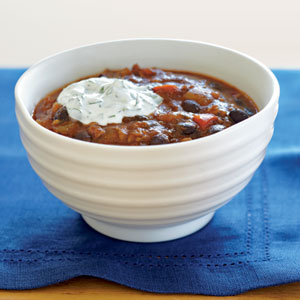 Black Bean-Salsa Chili Recipe