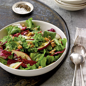 Candied Walnut, Pear, and Leafy Green Salad Recipes