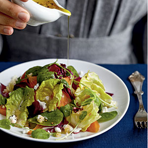 Winter's Best: Winter Salad with Roasted Beets and Citrus Reduction Dressing