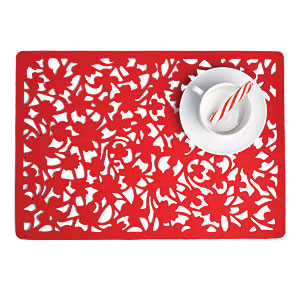 Red Flower Felt Placemat