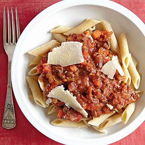 Vegetarian Bolognese with Whole-Wheat Penne Whole-Grain Recipe