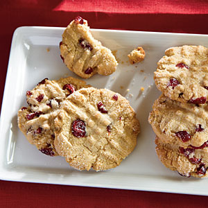 Healthy Macadamia Butter Cookies with Dried Cranberries Recipe