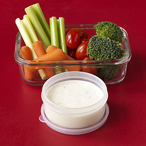 Healthy Snacks: Veggies with Ranch
