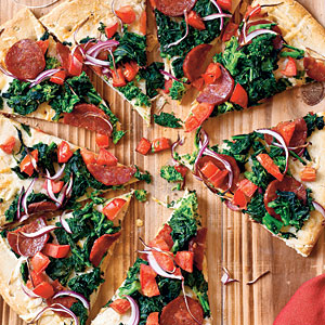 Healthy Manchego and Chorizo Pizza Recipe