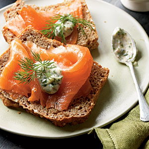 Healthy Irish Recipes: Smoked Salmon with Tangy Horseradish Sauce