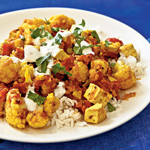 Indian-Style Tofu and Cauliflower Chutney
