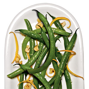 Healthy recipes: Green Beans with Orange and Hazelnuts