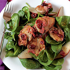 Healthy Pork Tenderloin, Pear, and Cranberry Salad Recipe
