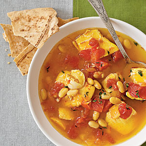 Saffron Fish Stew with White Beans Recipes