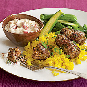 Quick Lamb Kofta with Harissa Yogurt Sauce Recipes