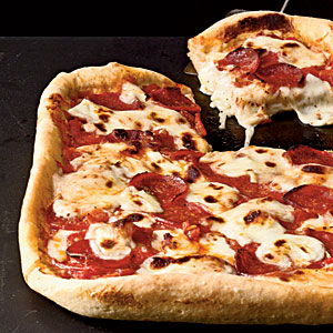 Healthy Pepperoni Deep-Dish Pizza Recipe