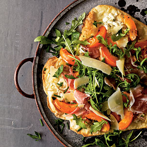 Healthy Apricot and Prosciutto Thin-Crust Pizza Recipe