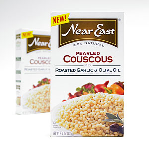 Side Dish: Near East Roasted Garlic & Olive Oil Pearled Couscous Mix