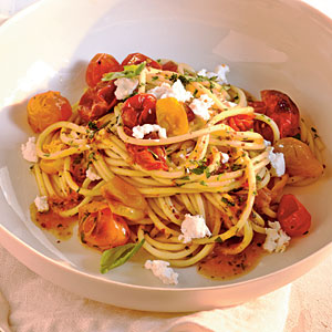 Healthy Quick-Roasted Cherry Tomato Sauce with Spaghetti Recipes