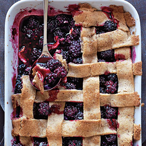 4th of July Recipes: Lattice-Topped Blackberry Cobbler