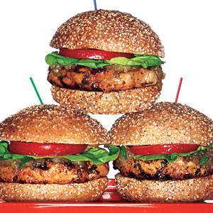 Turkey Burgers with Roasted Eggplant